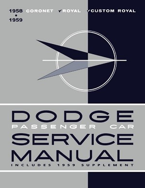 1958 - 1959 Dodge Car Shop Manual
