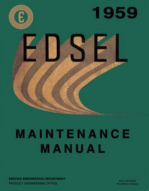 1959 Edsel Maintenance Manual