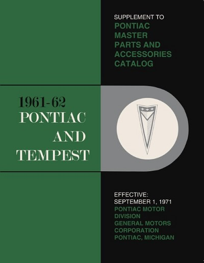 1961-1962 Pontiac Master Parts and Accessories Catalog Supplement