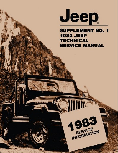 1983 Jeep Technical Service Manual Supplement