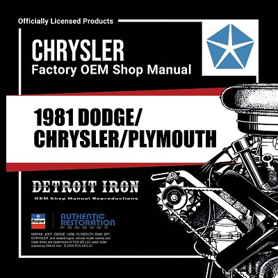 1981 Dodge Plymouth Chrysler - CD