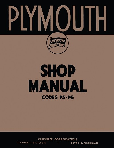 1938 Plymouth Shop Manual P5 - P6